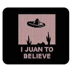 I Juan To Believe Ugly Holiday Christmas Black Background Double Sided Flano Blanket (Small)
