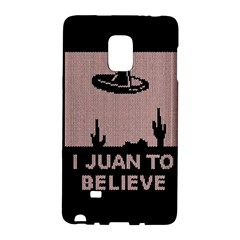I Juan To Believe Ugly Holiday Christmas Black Background Galaxy Note Edge