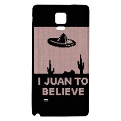 I Juan To Believe Ugly Holiday Christmas Black Background Galaxy Note 4 Back Case