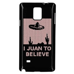 I Juan To Believe Ugly Holiday Christmas Black Background Samsung Galaxy Note 4 Case (Black)