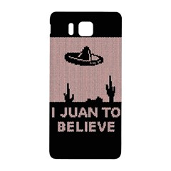 I Juan To Believe Ugly Holiday Christmas Black Background Samsung Galaxy Alpha Hardshell Back Case