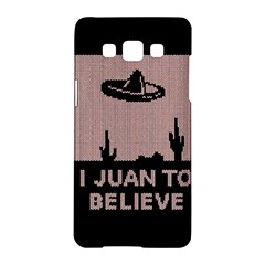 I Juan To Believe Ugly Holiday Christmas Black Background Samsung Galaxy A5 Hardshell Case