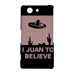I Juan To Believe Ugly Holiday Christmas Black Background Sony Xperia Z3 Compact