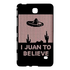 I Juan To Believe Ugly Holiday Christmas Black Background Samsung Galaxy Tab 4 (7 ) Hardshell Case
