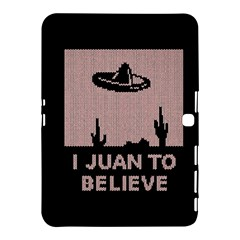 I Juan To Believe Ugly Holiday Christmas Black Background Samsung Galaxy Tab 4 (10.1 ) Hardshell Case