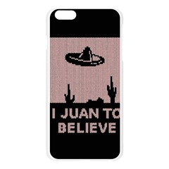 I Juan To Believe Ugly Holiday Christmas Black Background Apple Seamless iPhone 6 Plus/6S Plus Case (Transparent)