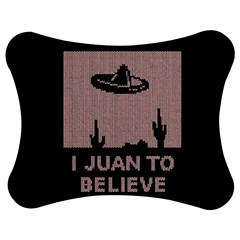 I Juan To Believe Ugly Holiday Christmas Black Background Jigsaw Puzzle Photo Stand (Bow)