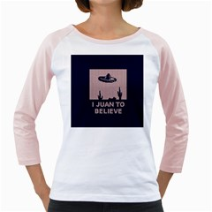 I Juan To Believe Ugly Holiday Christmas Blue Background Girly Raglans
