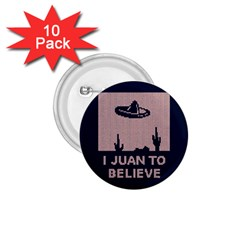 I Juan To Believe Ugly Holiday Christmas Blue Background 1 75  Buttons (10 Pack)