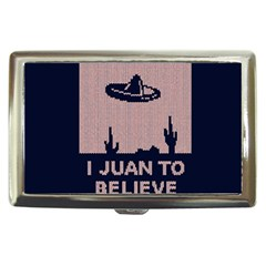 I Juan To Believe Ugly Holiday Christmas Blue Background Cigarette Money Cases