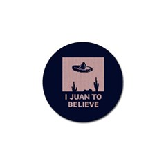 I Juan To Believe Ugly Holiday Christmas Blue Background Golf Ball Marker (10 pack)