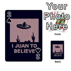 I Juan To Believe Ugly Holiday Christmas Blue Background Playing Cards 54 Designs