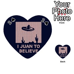 I Juan To Believe Ugly Holiday Christmas Blue Background Playing Cards 54 (heart)