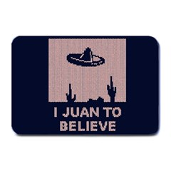 I Juan To Believe Ugly Holiday Christmas Blue Background Plate Mats