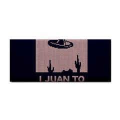 I Juan To Believe Ugly Holiday Christmas Blue Background Hand Towel