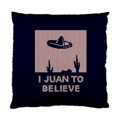 I Juan To Believe Ugly Holiday Christmas Blue Background Standard Cushion Case (One Side)