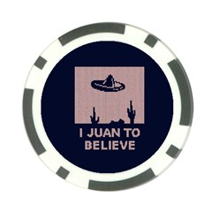 I Juan To Believe Ugly Holiday Christmas Blue Background Poker Chip Card Guards (10 pack)