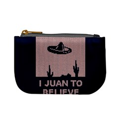 I Juan To Believe Ugly Holiday Christmas Blue Background Mini Coin Purses