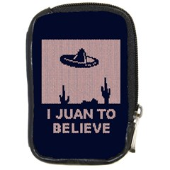 I Juan To Believe Ugly Holiday Christmas Blue Background Compact Camera Cases