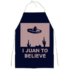 I Juan To Believe Ugly Holiday Christmas Blue Background Full Print Aprons