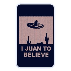 I Juan To Believe Ugly Holiday Christmas Blue Background Memory Card Reader
