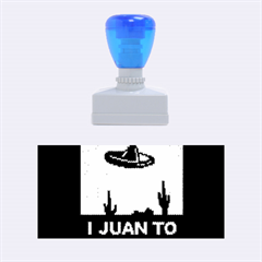 I Juan To Believe Ugly Holiday Christmas Blue Background Rubber Stamps (Medium)