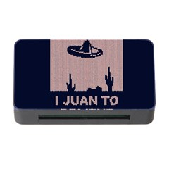 I Juan To Believe Ugly Holiday Christmas Blue Background Memory Card Reader with CF