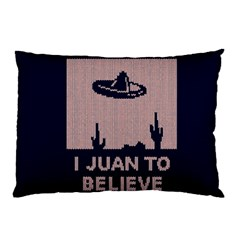 I Juan To Believe Ugly Holiday Christmas Blue Background Pillow Case (Two Sides)