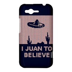 I Juan To Believe Ugly Holiday Christmas Blue Background HTC Rhyme