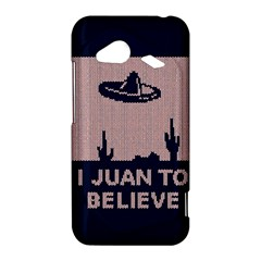 I Juan To Believe Ugly Holiday Christmas Blue Background HTC Droid Incredible 4G LTE Hardshell Case