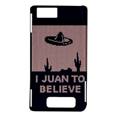 I Juan To Believe Ugly Holiday Christmas Blue Background Motorola DROID X2