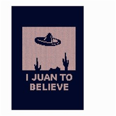 I Juan To Believe Ugly Holiday Christmas Blue Background Small Garden Flag (two Sides)