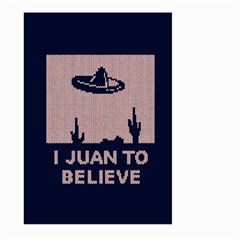 I Juan To Believe Ugly Holiday Christmas Blue Background Large Garden Flag (two Sides)