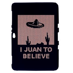 I Juan To Believe Ugly Holiday Christmas Blue Background Samsung Galaxy Tab 8.9  P7300 Hardshell Case