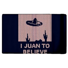 I Juan To Believe Ugly Holiday Christmas Blue Background Apple Ipad 3/4 Flip Case