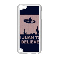 I Juan To Believe Ugly Holiday Christmas Blue Background Apple iPod Touch 5 Case (White)