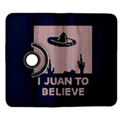 I Juan To Believe Ugly Holiday Christmas Blue Background Samsung Galaxy Note II Flip 360 Case