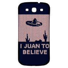 I Juan To Believe Ugly Holiday Christmas Blue Background Samsung Galaxy S3 S Iii Classic Hardshell Back Case