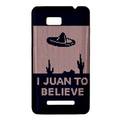 I Juan To Believe Ugly Holiday Christmas Blue Background HTC One SU T528W Hardshell Case