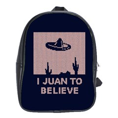 I Juan To Believe Ugly Holiday Christmas Blue Background School Bags (XL)