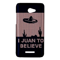 I Juan To Believe Ugly Holiday Christmas Blue Background HTC Butterfly X920E Hardshell Case