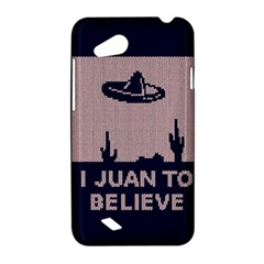 I Juan To Believe Ugly Holiday Christmas Blue Background HTC Desire VC (T328D) Hardshell Case