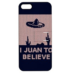 I Juan To Believe Ugly Holiday Christmas Blue Background Apple iPhone 5 Hardshell Case with Stand