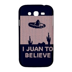 I Juan To Believe Ugly Holiday Christmas Blue Background Samsung Galaxy Grand DUOS I9082 Hardshell Case