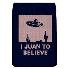 I Juan To Believe Ugly Holiday Christmas Blue Background Flap Covers (L)