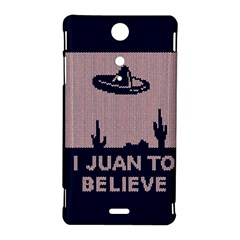 I Juan To Believe Ugly Holiday Christmas Blue Background Sony Xperia TX