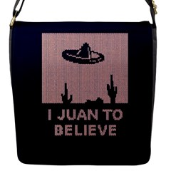 I Juan To Believe Ugly Holiday Christmas Blue Background Flap Messenger Bag (s)