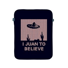 I Juan To Believe Ugly Holiday Christmas Blue Background Apple iPad 2/3/4 Protective Soft Cases
