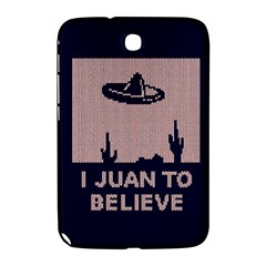 I Juan To Believe Ugly Holiday Christmas Blue Background Samsung Galaxy Note 8.0 N5100 Hardshell Case