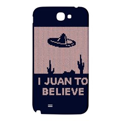 I Juan To Believe Ugly Holiday Christmas Blue Background Samsung Note 2 N7100 Hardshell Back Case